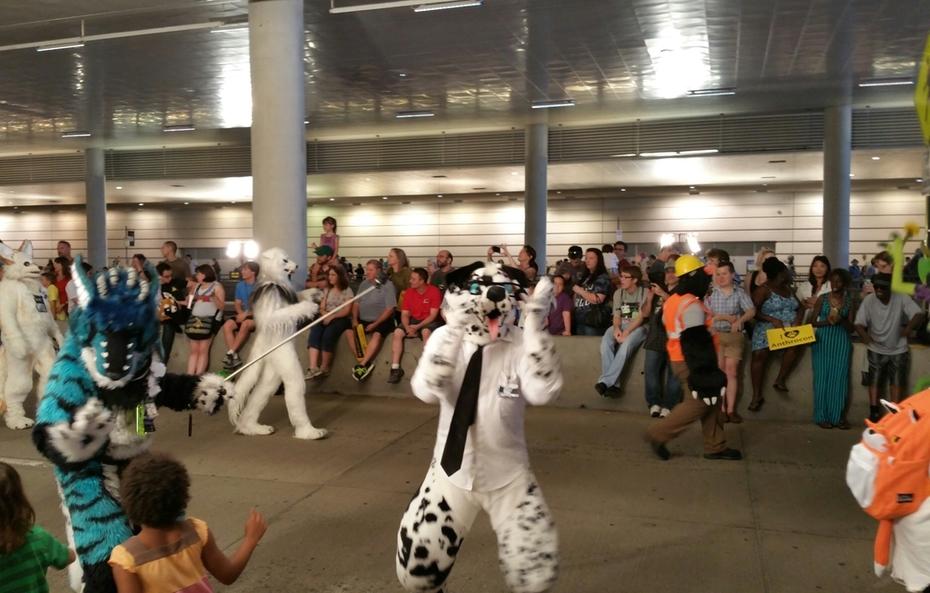 Dalmatian at the anthrocon fursuit parade
