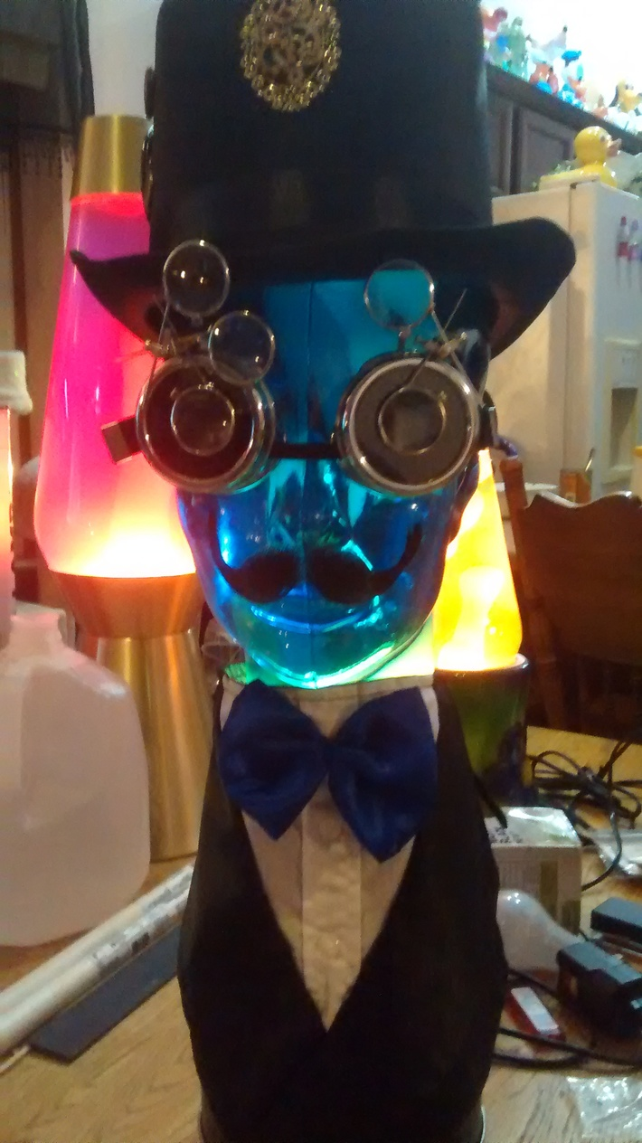 Custom Made Steampunk lava head