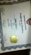USTA Number One 5.5 Ranking Certificate