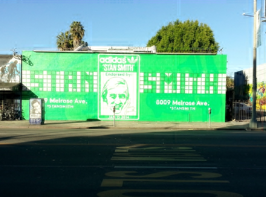 Stan Smith Mural on Melrose