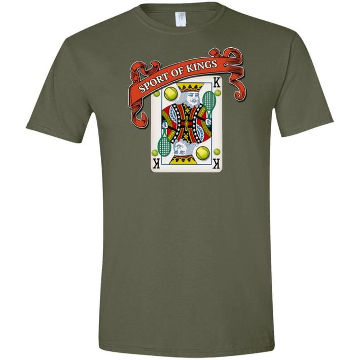 """""""Sport of Kings"""" Semi-Fitted Ring Spun Cotton Tee, V1"""