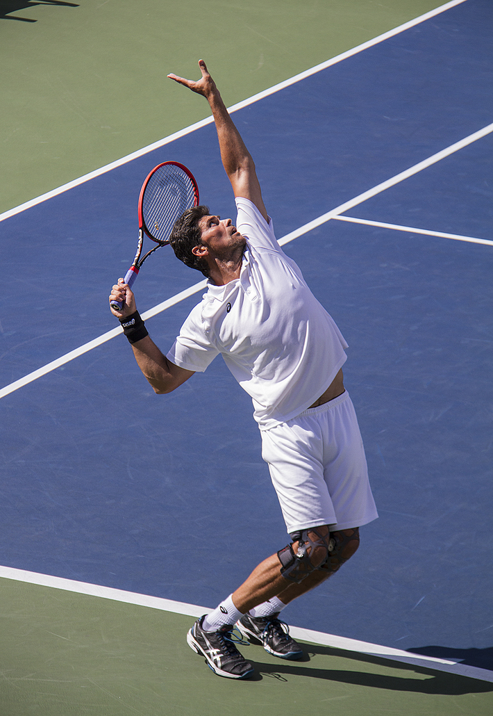 Mark Philippoussis severs at 138 mph at the us open