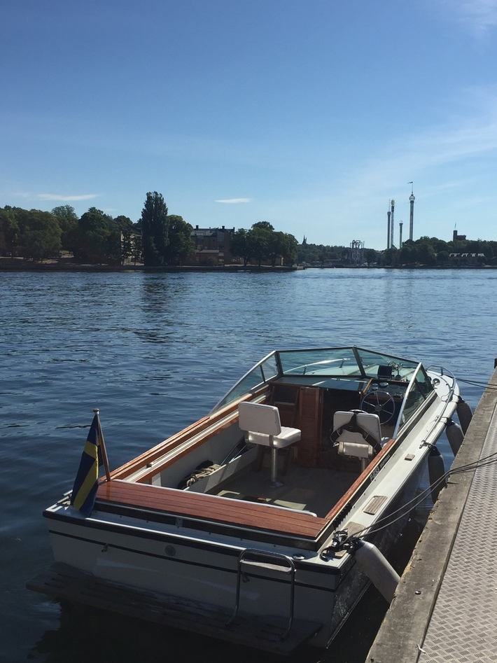 Moored in the Old Town in Stockholm