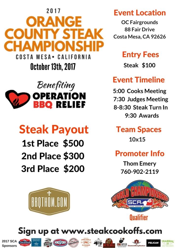 OC Steak Championship Flier