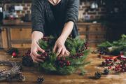Wreath Making Workshop at Bristol Farms
