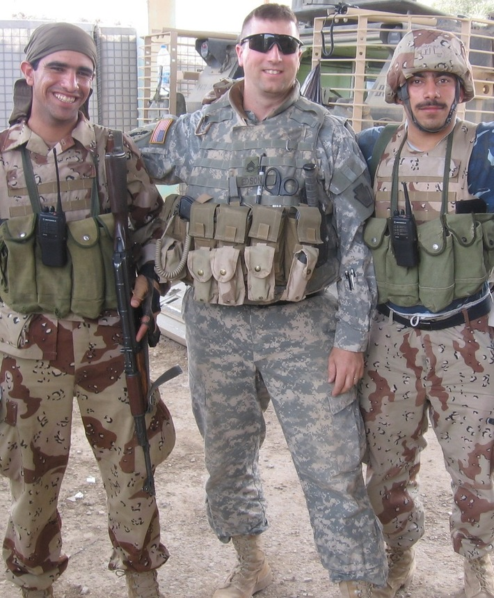SFC Edson with Iraqi Soldiers