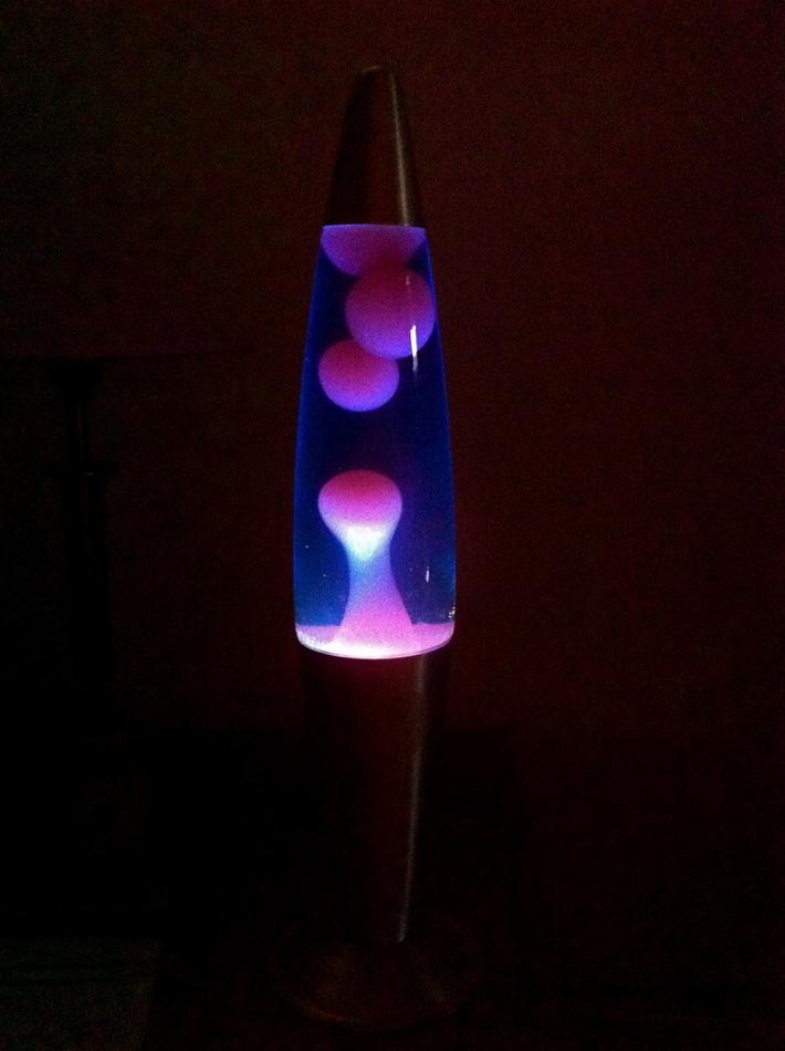 Motion Lava Lamp, Blue Liquid/Dark Pink Lava