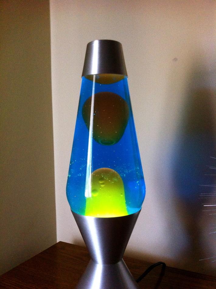 Lava Lite Blue Liquid/Yellow Lava (China Made)