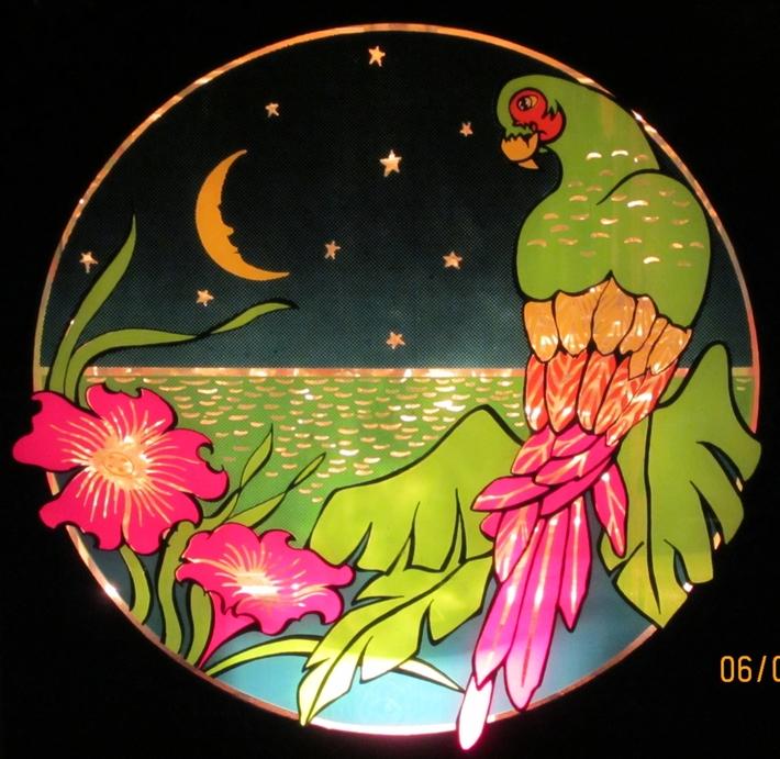 Glitter Graphics Parrot Lamp