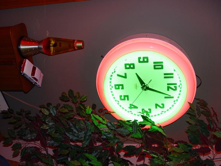 Neon clock and restored Century