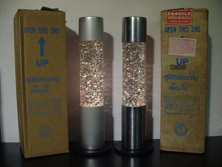 Fantasia Glitter Lamps