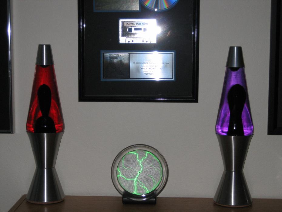 Custom red/black and purple/black