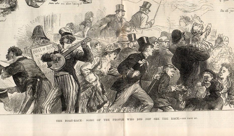 'Squash' at the boat race, March 1880