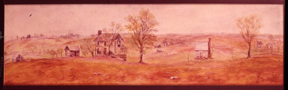 Frankenstein sketch, apple tree site ND- Courtesy Appomattox Court House NHP