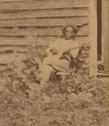 Close-up of banjo player in Reams, Virginia photo