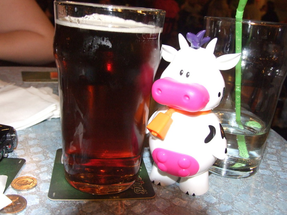 dads Pint cow and My Lemonade