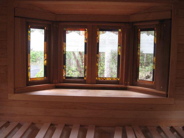 Bay window & bed platform