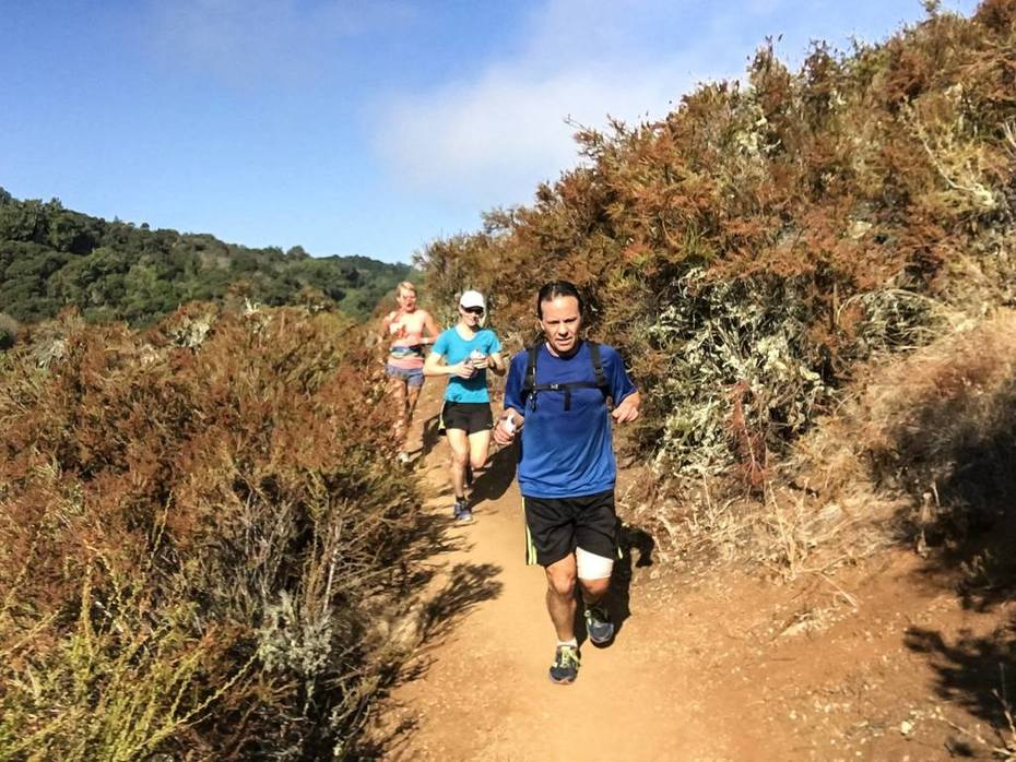 Foothill Park single track - August Trail Run
