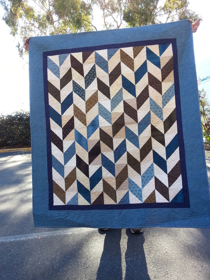 Herringbone Quilt for Wounded Vet