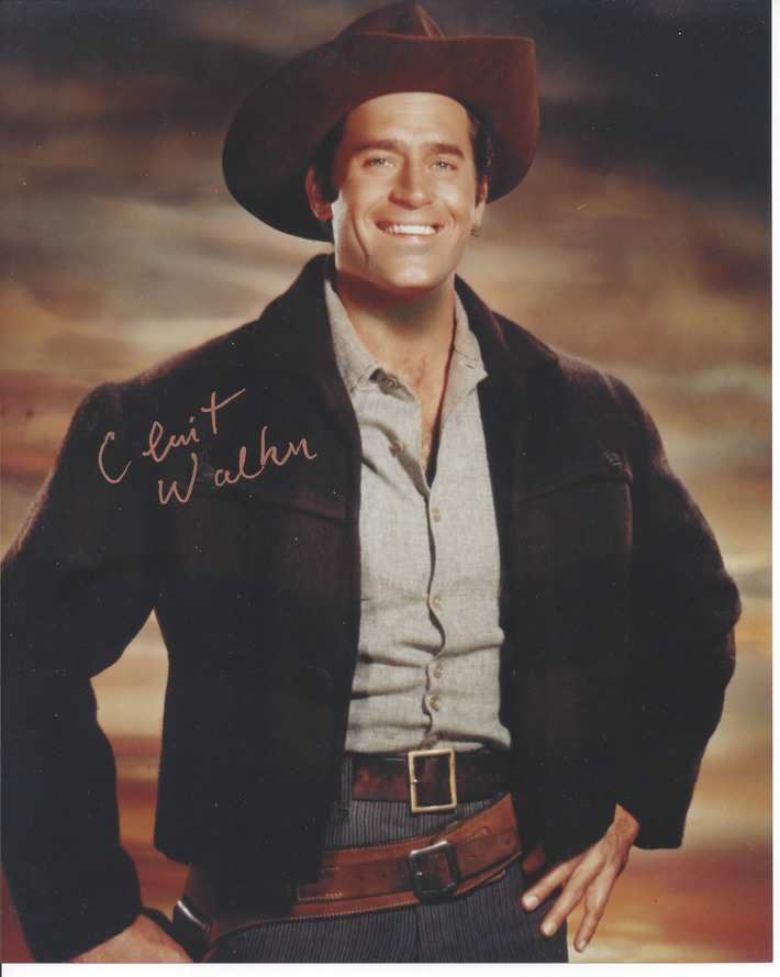 SELL-Clint Walker Cheyenne Signed in Gold 8x10 Photo $75