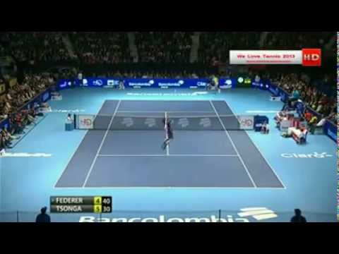 Federer Plays with the Crowd and Messes with Tsonga