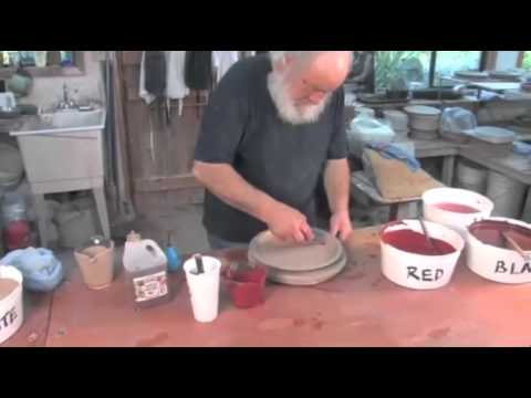 Pottery Video: Robin Hopper Demonstrates Mocha Diffusion and Slip Dotting Pottery