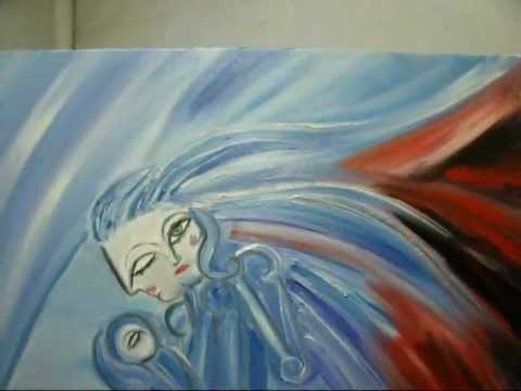 "Rogelio Ronco©-""Beauty Being Born""-A Painting Process"