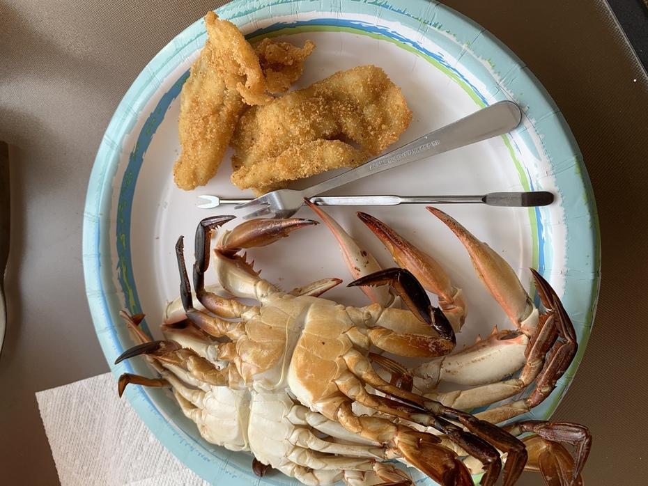 Blue Crab and Bluegill