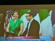 Liam Neeson considers 'Madame Mayor' Christine Quinn