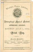 1872 July 1 World Peace Jubilee Irish  Day