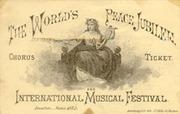 1872 World Jubilee Ticket