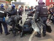 Police attacked by Loyalists in Belfast
