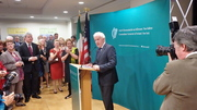Warm Welcome for Jimmy Deenihan at Consulate Reception