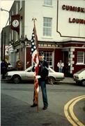 Proudly Carrying the Colors Outside Cumisky's Lounge
