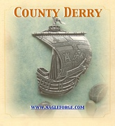County Derry inspired Pewter Ship Brooch by Nagle Forge & Foundry