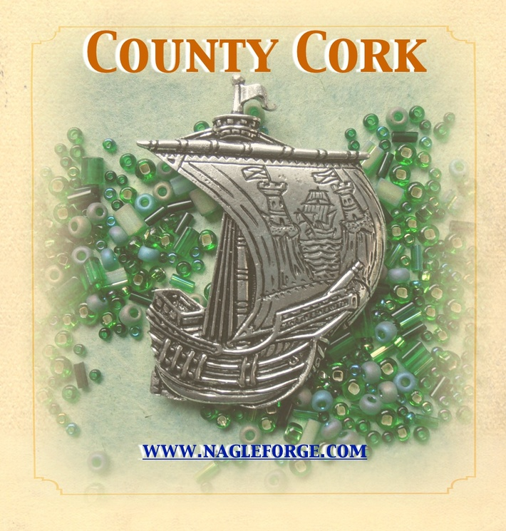County Cork inspired Pewter Ship Brooch by Nagle Forge & Foundry