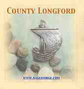 County Longford inspired Pewter Ship Brooch by Nagle Forge & Foundry