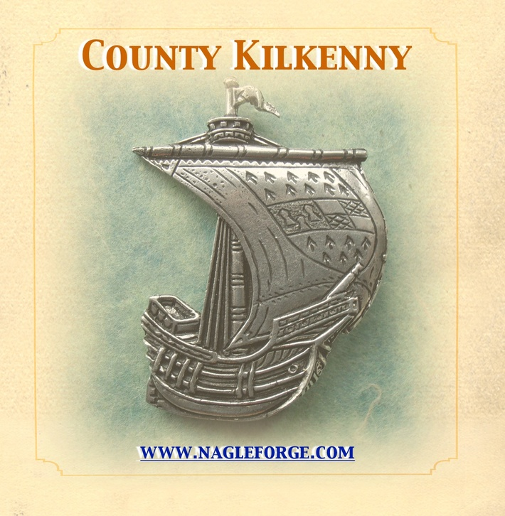 County Kilkenny inspired Pewter Ship Brooch by Nagle Forge & Foundry