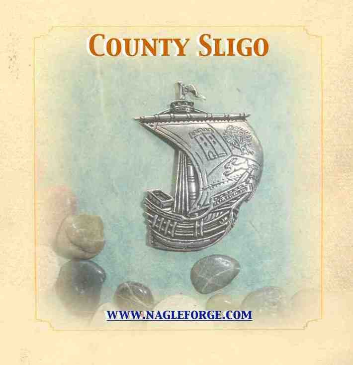 County Sligo inspired Pewter Ship Brooch by Nagle Forge & Foundry