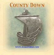 County Down inspired Pewter Ship Brooch by Nagle Forge & Foundry