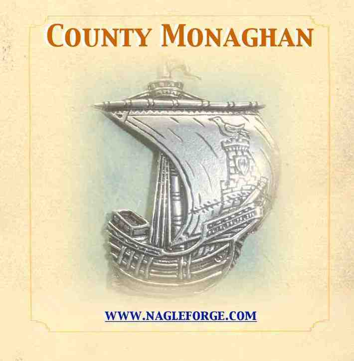 County Monaghan inspired Pewter Ship Brooch by Nagle Forge & Foundry