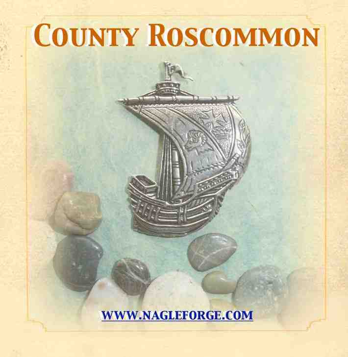 County Roscommon inspired Pewter Ship Brooch by Nagle Forge & Foundry