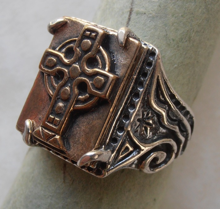 Celtic Cross Seal Ring --A Nagle Forge & Foundry original....