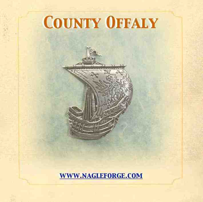 County Offaly inspired Pewter Ship Brooch by Nagle Forge & Foundry