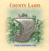 County Laois inspired Pewter Ship Brooch by Nagle Forge & Foundry