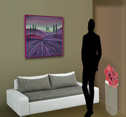 Lavendelfeld-Sofa