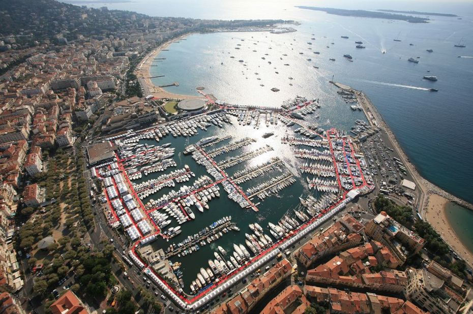cannes during the yachting show