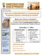 Construction Loan Flyer