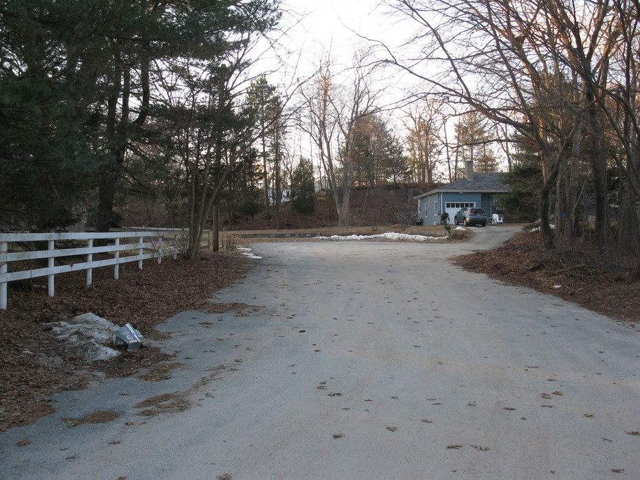 End of cul-de-sac, quiet residential neighborhood