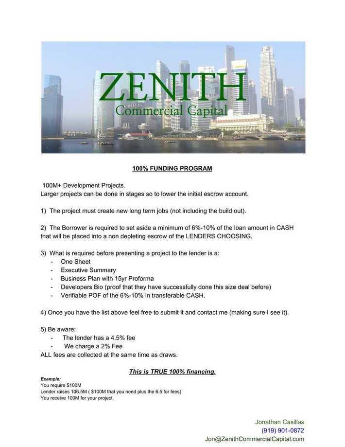 Zenith100FUNDINGPROGRAM
